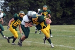 Eldred's Shaun Berger tries to elude a tackle.