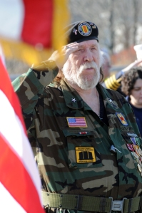 grand marshall us army sgt  james k  richardson fought as a combat
