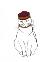 mongolian hat cat 4