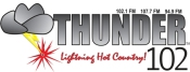 Thunder 102, home of Lightning Hot Country and heard in New York and Pennsylvania on 102.1, 94.9 and 107.7 is proud to be your local radio station.