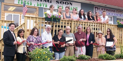Peace, Love, and Ice Cream Ribbon Cutting