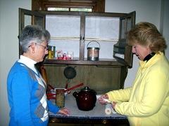 farm exhibit - lynn and Bonnie in kitchen