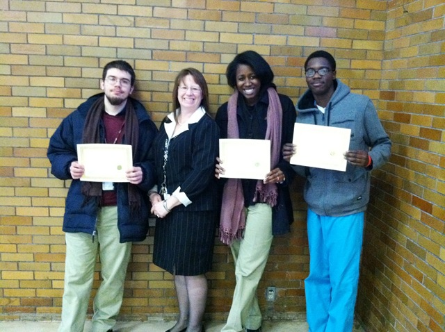 achieve rehab awards certificates to delaware valley job corps