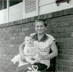 Grandma Bella & Jude 1956