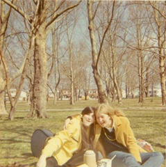 Janet and Cindy ~ 1970.crop