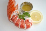 Lobster with cup of butter and lemon
