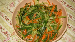 Cucumber and carrot salad with citrus dressing, mint and parsley-reduced image
