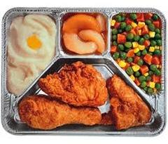 Fried chicken t.v. dinner