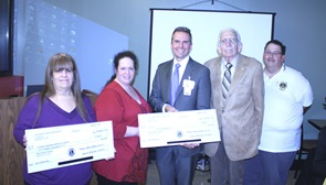 Presentation of Checks to Dr. Galarneau 11-21-13