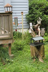 Bird houses and wind chimes July 2014_reduced image