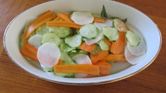 Asian-style pickled daikon, cucumbers and carrot_reduced image