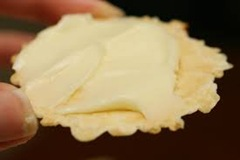 Cracker with brie