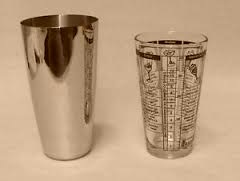 Glass and metal shaker glasses