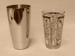 Glass and metal shaker glasses