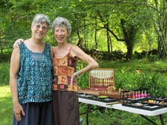 1. The sisters at our yard sale July 2015