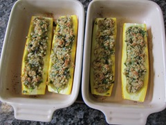 16. Baked stuffed zucchini for two